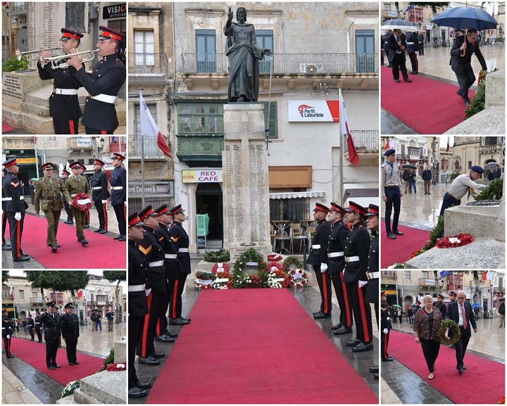 Commemoration ceremony honours victims of the two world wars