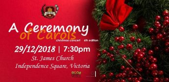 A Ceremony of Carols Christmas Concert with the Santa Cecilja Choir