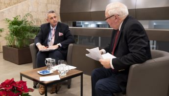 In conversation with Mr Joseph R Grima at the Central Bank of Malta