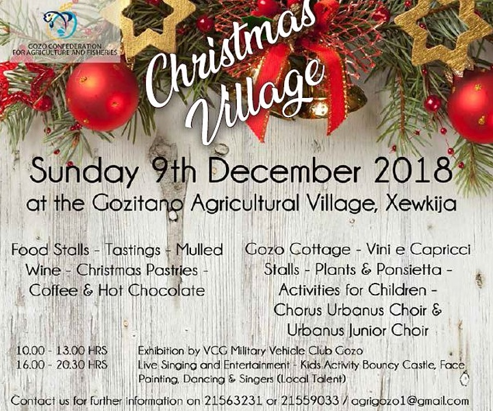 Visit the Christmas Village this Sunday at the Gozitano Agricultural Village