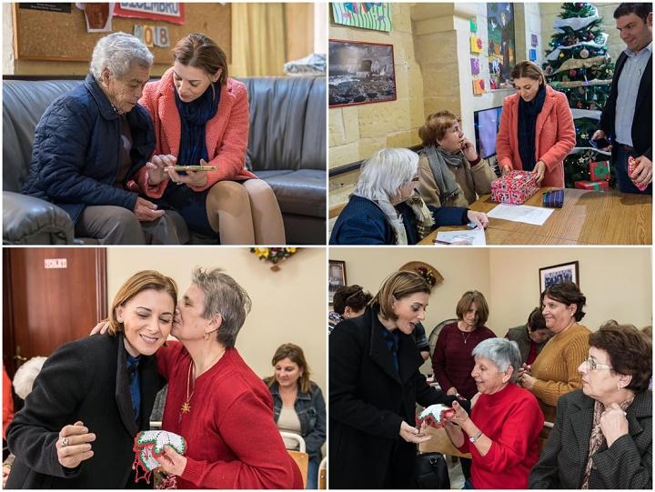 Gozo Minister pays Christmas visits to Dar Pardova and Xewkija
