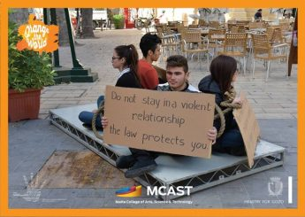 MCAST Gozo students in activism against Gender - Based Violence