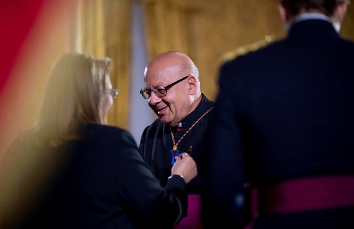 Mgr Joseph Farrugia made a Member of the National Order of Merit