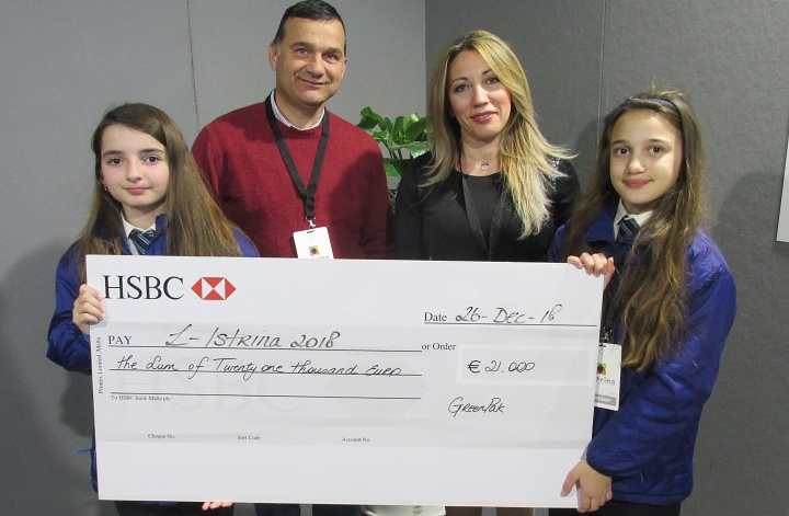 €21,000 from plastic bottle caps - winning school is GC San Lawrenz Primary