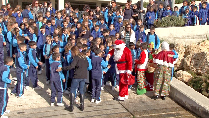 Happy School students enjoy surprise visit by Father Christmas