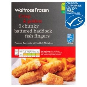 Warning not to eat Waitrose 6 Chunky Battered Haddock Fish Fingers