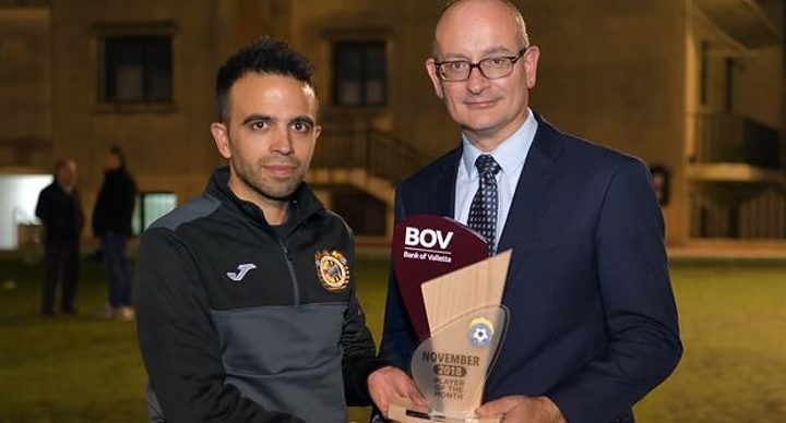 Joseph Cefai of Xewkija Tigers is BOV GFA Player of the Month