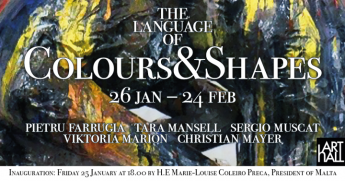 The Language of Colours & Shapes opening at ArtHall Gozo