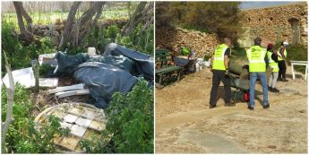 Over one tonne of camping related equipment cleared off Comino