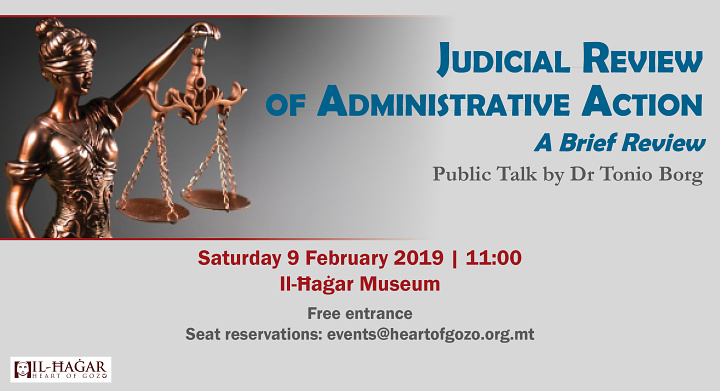 Gozo talk: Judicial Review of Administrative Action by Dr Tonio Borg