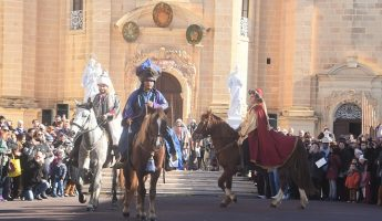 Xaghra village welcomes triumphal entry La Cavalcata Dei Re Magi