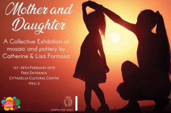 Mother and Daughter: Collective exhibition of mosaic and pottery