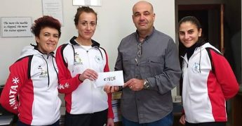 Gozitan 5 present €1805 to the OASI Foundation of Gozo