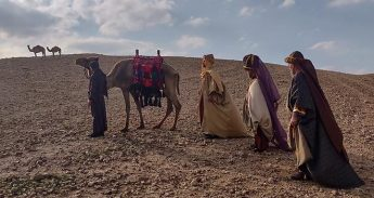 The Magi on their journey to Gozo from Bethlehem in Palestine