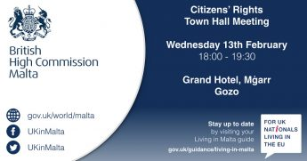 UK nationals citizens' rights meeting in Gozo next Wednesday