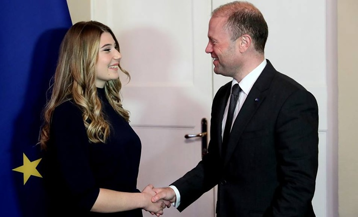 X-Factor Malta winner Michela Pace welcomed by the Prime Minister