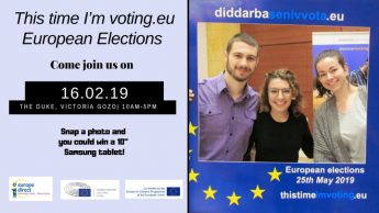 European Parliament Elections event in Gozo - This time I'm voting.eu