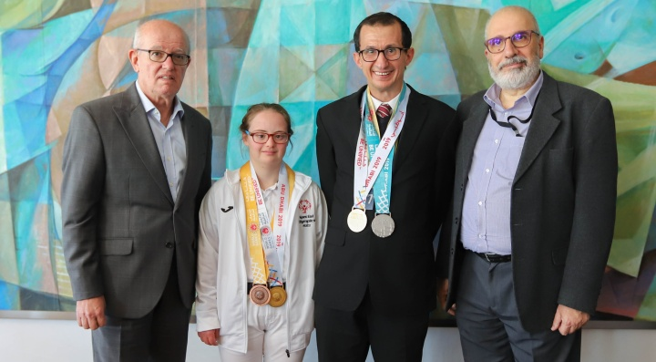 Special Olympics Medal winning athletes congratulated by BOV Directors
