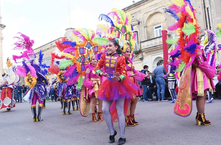 Carnival festivities enjoyed by everyone in Xaghra on Sunday