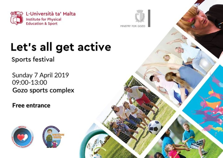 Let's all Get Active - Free Sports Festival in Gozo for all the family