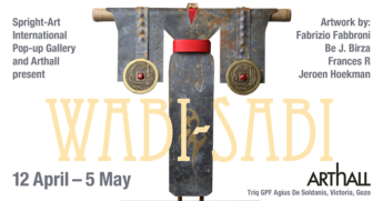 Wabi-Sabi - sculptures, collages and paintings at Arthall, Gozo