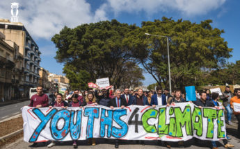 Students united in Malta for international Climate Change march