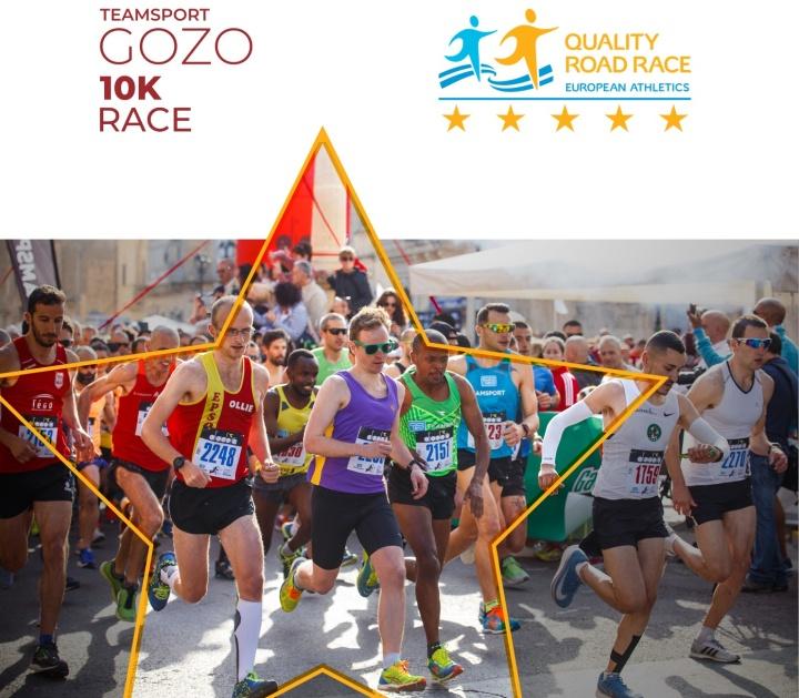 5-Star Race Certification awarded to Gozo Half Marathon 10K