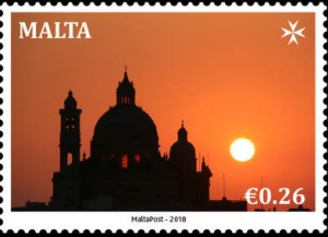 Gozo church features on reprint of MaltaPost SEPAC 26 cent stamp
