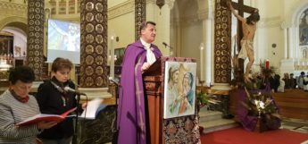 Bishop leads Diocesan Via Crucis in Ta' Pinu Sanctuary