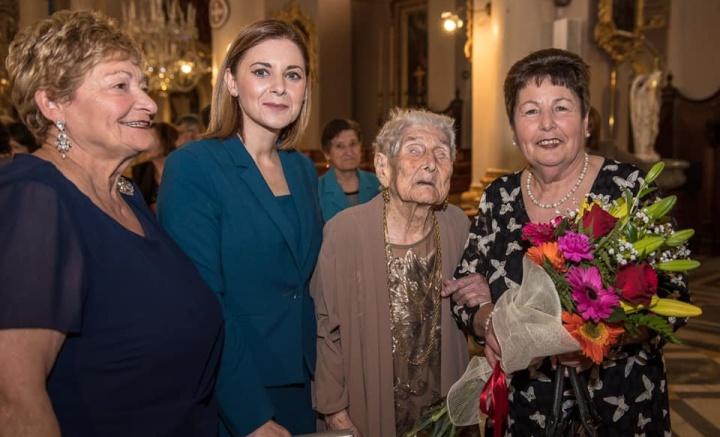103rd birthday celebration Mass for Carmen Vella of Qala