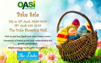 Easter goodies on sale at the OASI Foundation Bake Sale