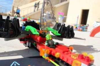 Spacelab children's spaceships in a friendly invasion of Gozo