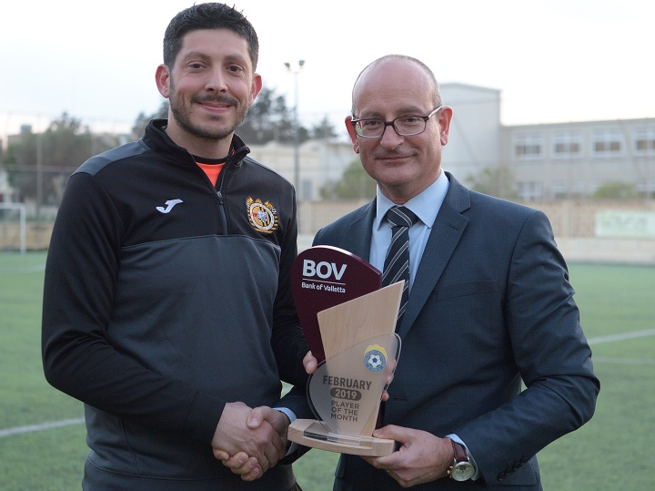 Xewkija Tigers' keeper Mark Grima wins February Player of the Month