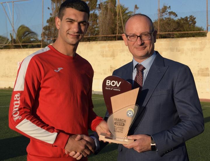 Victoria Hotspurs Captain Ferdinando Apap wins Player of the Month