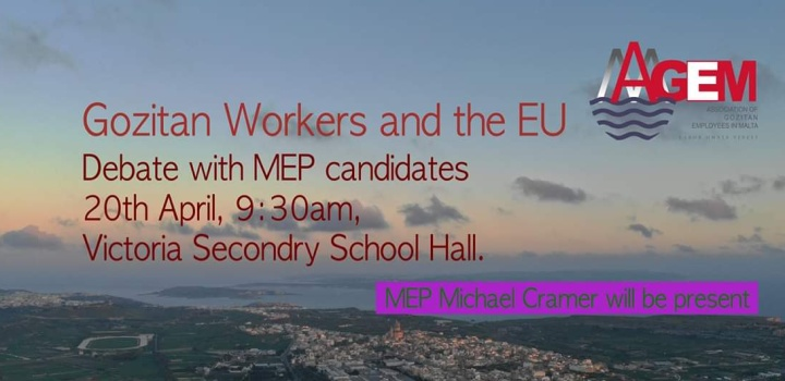 The Gozitan Workers and the EU - debate with MEP candidates