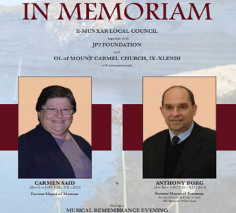 In Memoriam - Commemoration for Carmen Said and Anthony Borg