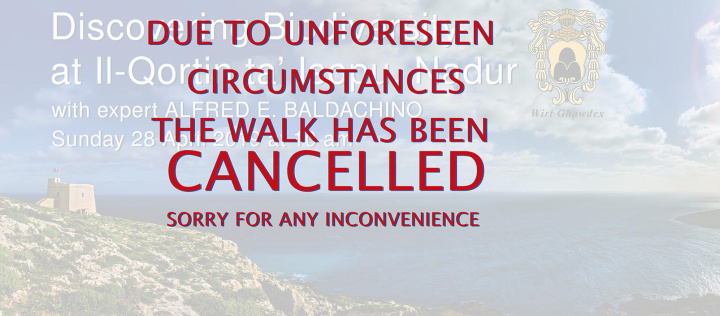 Update: Discovering Biodiversity - Nature walk in Gozo cancelled