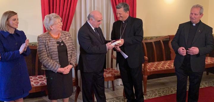 President George Vella visits Bishop of Gozo Mgr Mario Grech
