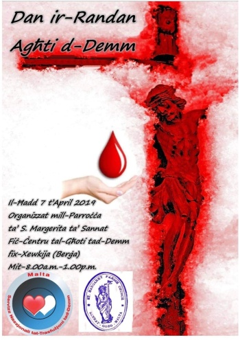 Support and help others by giving blood this weekend in Gozo