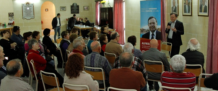 Alfred Sant says if elected he will continue to be Gozo's voice in Europe