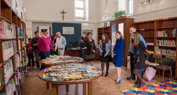 Donation of children's books and launch of Kids Book Club Gozo
