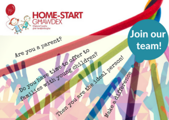 Home-Start Ghawdex is looking for more volunteers to help families in Gozo