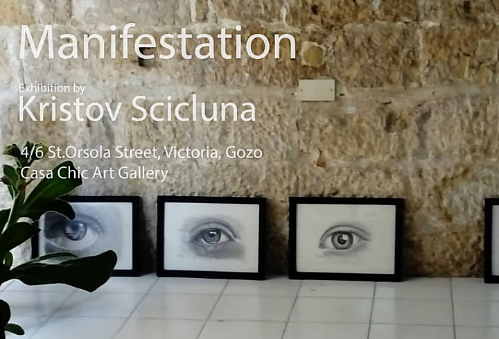 Manifestation: Gozitan Kristov Scicluna in his first exhibition