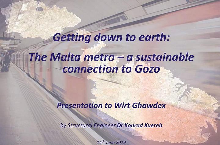 The Malta metro - a sustainable connection to Gozo - public talk