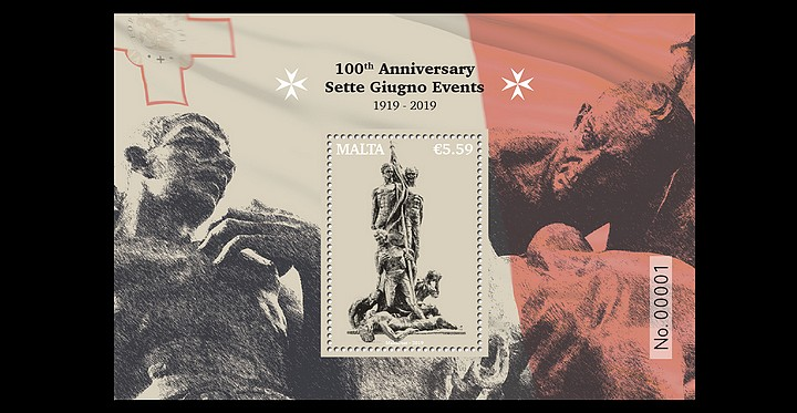 100th anniversary - Sette Giugno events 1919 commemorative stamp issue