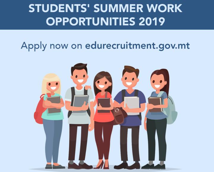 Applications open for Students' Summer Work Opportunities 2019 scheme