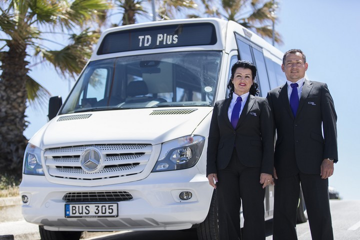 New shared on demand bus service in Malta with seat booking with TD Plus