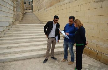 St Francis Stairs Project - Gozo Minister pays onsite visit