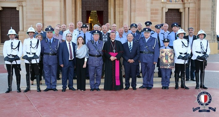 Thanksgiving Mass held at Ta' Pinu for members of the Police Force