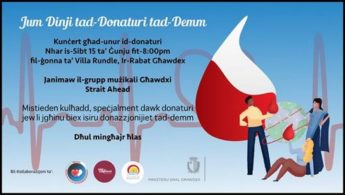 Gozo concert in honour of blood donors for World Blood Donor Day
